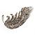 Dazzling Crystal Leaf Brooch (Silver Tone) - view 5
