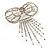 Enchanting Diamante Bow Charm Brooch (Silver Tone) - view 6