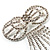 Enchanting Diamante Bow Charm Brooch (Silver Tone) - view 5