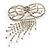 Enchanting Diamante Bow Charm Brooch (Silver Tone) - view 8