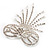 Enchanting Diamante Bow Charm Brooch (Silver Tone) - view 9