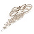 Enchanting Diamante Bow Charm Brooch (Silver Tone) - view 10