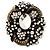 Oversized Vintage Corsage Crystal Brooch/ Pendant (Bronze Tone)