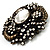 Oversized Vintage Corsage Crystal Brooch/ Pendant (Bronze Tone) - view 5