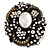 Oversized Vintage Corsage Crystal Brooch/ Pendant (Bronze Tone) - view 6