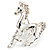 Silver Plated Galloping Horse Brooch - view 6