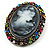 Multicoloured Bronze Vintage Cameo Brooch&Pendant - view 4