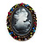 Multicoloured Bronze Vintage Cameo Brooch&Pendant - view 8