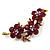 Swarovski Crystal Floral Brooch (Antique Gold & Burgundy Red) - view 5
