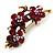 Swarovski Crystal Floral Brooch (Antique Gold & Burgundy Red) - view 6