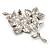 Magenta Swarovski Crystal Flower Brooch (Silver Tone) - view 8