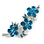 Crystal Floral Brooch (Silver&Teal Green)