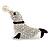 Diamante Seal Brooch (Silver Tone)
