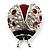 Red Enamel Ladybug Brooch (Silver Tone) - view 8