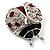 Red Enamel Ladybug Brooch (Silver Tone) - view 9