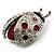 Red Enamel Ladybug Brooch (Silver Tone) - view 11