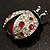 Red Enamel Ladybug Brooch (Silver Tone) - view 12