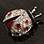 Red Enamel Ladybug Brooch (Silver Tone) - view 2