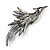 Sparkling Purple Crystal Fire-Bird Brooch (Gun Metal) - view 8