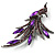 Sparkling Purple Crystal Fire-Bird Brooch (Gun Metal) - view 3