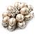 Bridal Imitation Pearl Dimensional Flower Brooch (Silver Tone) - view 7