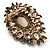 Oversized Vintage Corsage Imitation Pearl Brooch (Antique Gold) - view 7