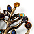 Vintage Multicoloured Tree Brooch (Bronze Tone) -7.5cm Length - view 7