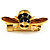 Gold Plated Bee Pin (Black & Light Brown) - view 8