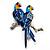 Blue Enamel Parrot Brooch (Silver Tone Metal) - view 3