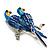 Blue Enamel Parrot Brooch (Silver Tone Metal) - view 4