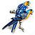 Blue Enamel Parrot Brooch (Silver Tone Metal) - view 5