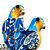 Blue Enamel Parrot Brooch (Silver Tone Metal) - view 2