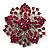 Victorian Corsage Flower Brooch (Silver & Bright Magenta) - view 7