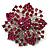 Victorian Corsage Flower Brooch (Silver & Bright Magenta) - view 10