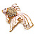 Light Pink Enamel Crystal Fish Brooch (Gold Plated Metal) - view 7