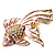 Light Pink Enamel Crystal Fish Brooch (Gold Plated Metal) - view 6