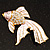 Light Pink Enamel Crystal Fish Brooch (Gold Plated Metal) - view 2
