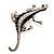 Silver Plated Crystal Enamel Lizard Brooch - view 7