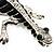 Silver Plated Crystal Enamel Lizard Brooch - view 3