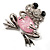 'Smiling Frog' Crystal Brooch (Silver Tone Metal) - view 5