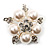 Stunning Bridal Simulated Pearl Crystal Brooch (Snow White & Silver) - view 5