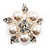 Stunning Bridal Simulated Pearl Crystal Brooch (Snow White & Silver) - view 6