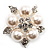Stunning Bridal Simulated Pearl Crystal Brooch (Snow White & Silver) - view 2