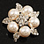 Stunning Bridal Simulated Pearl Crystal Brooch (Snow White & Silver) - view 3