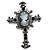 Victorian Style Cross Cameo Brooch (Gun Metal)