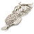 Large Filigree Crystal Owl Brooch (Silver Tone) - view 10