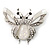 Large Enamel Bug Brooch (White) - view 1