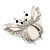 Large Enamel Bug Brooch (White) - view 3