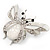 Large Enamel Bug Brooch (White) - view 2