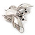 Large Enamel Bug Brooch (White) - view 6